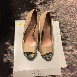Jessica Simpson peep toe pumps